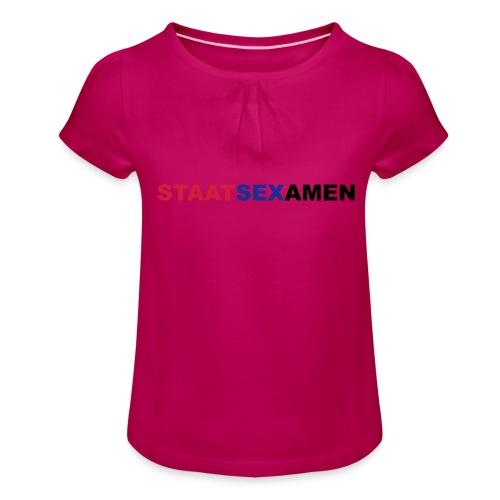 Staatsexamen - Mädchen-T-Shirt mit Raffungen