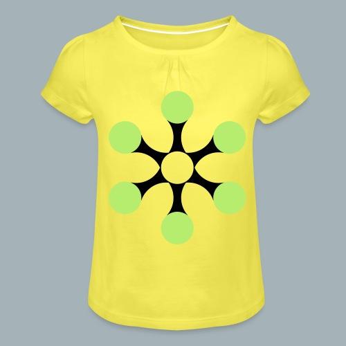Star Bio T-shirt - Meisjes-T-shirt met plooien
