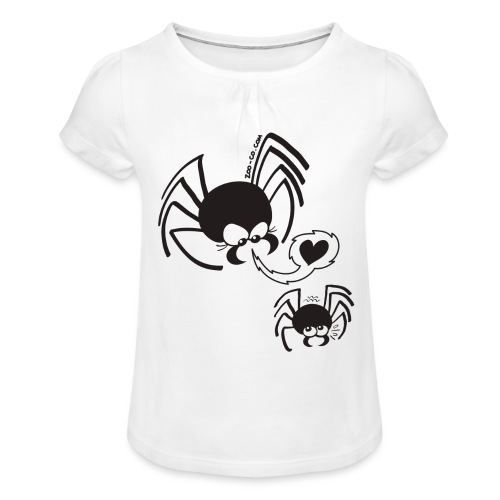 Dangerous Spider Love - Girl's T-Shirt with Ruffles
