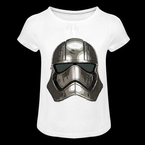Phasma's Helmet - Girl's T-Shirt with Ruffles