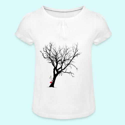 clown arbre - T-shirt à fronces au col Fille