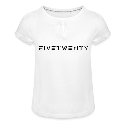 fivetwenty logo test - T-shirt med rynkning flicka