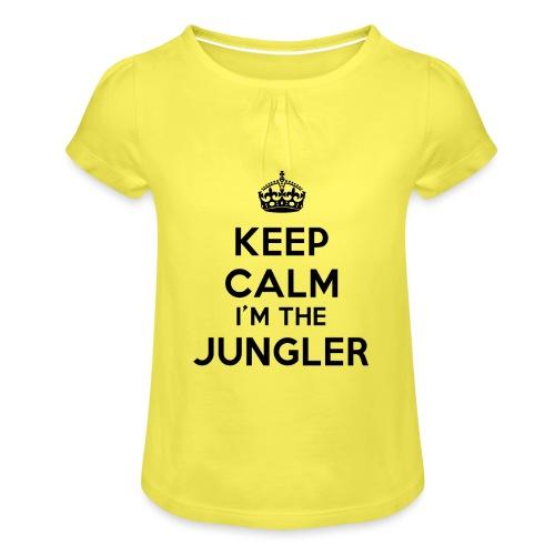 Keep calm I'm the Jungler - T-shirt à fronces au col Fille