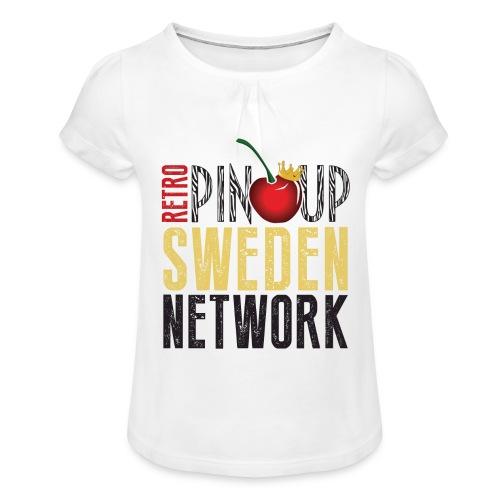 Tanktop Retro Pinup Sweden Crew utsvängd - T-shirt med rynkning flicka