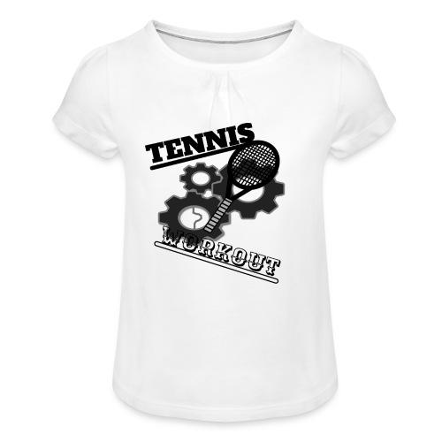 TENNIS WORKOUT - Girl's T-Shirt with Ruffles