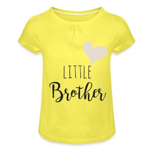 Little brother herz - Mädchen-T-Shirt mit Raffungen