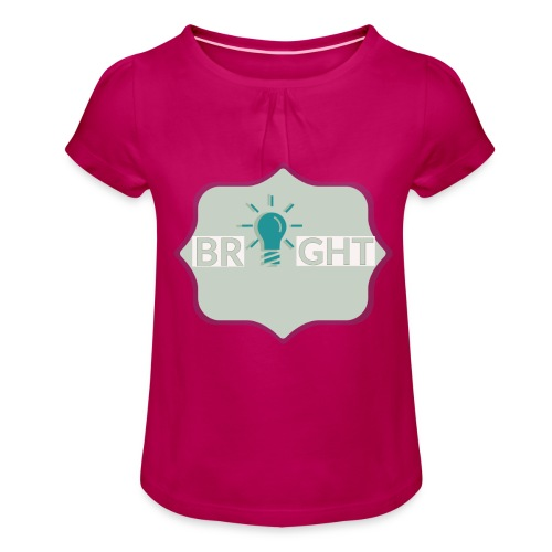 bright - Girl's T-Shirt with Ruffles