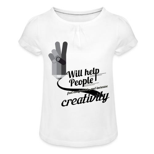 crati - Girl's T-Shirt with Ruffles