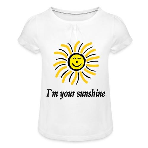 2i m youre sunshine Gelb Top - Mädchen-T-Shirt mit Raffungen