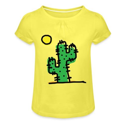 Cactus single - Maglietta da ragazza con arricciatura
