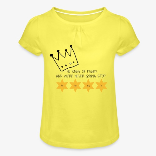 The Kings of Rugby (Kids) - Girl's T-Shirt with Ruffles