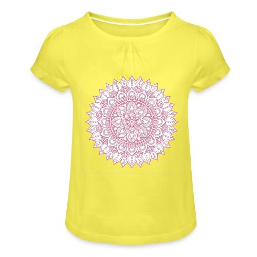 Mandala - Girl's T-Shirt with Ruffles