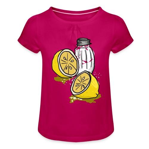 Tequila - Meisjes-T-shirt met plooien