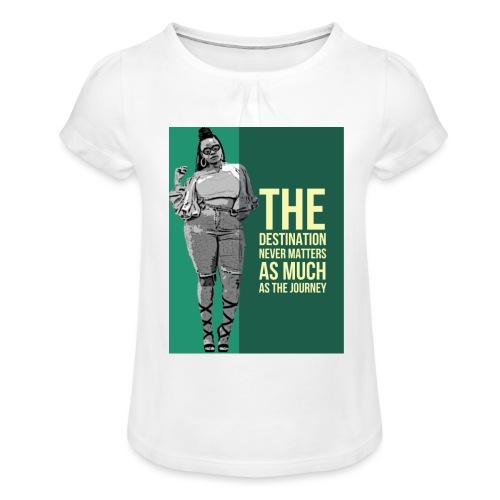 girlquote - T-shirt à fronces au col Fille