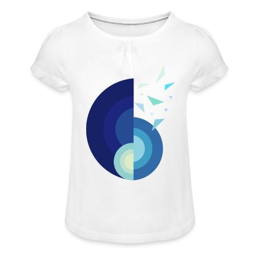 GLACE - MINIMALISTE - T-shirt à fronces au col Fille