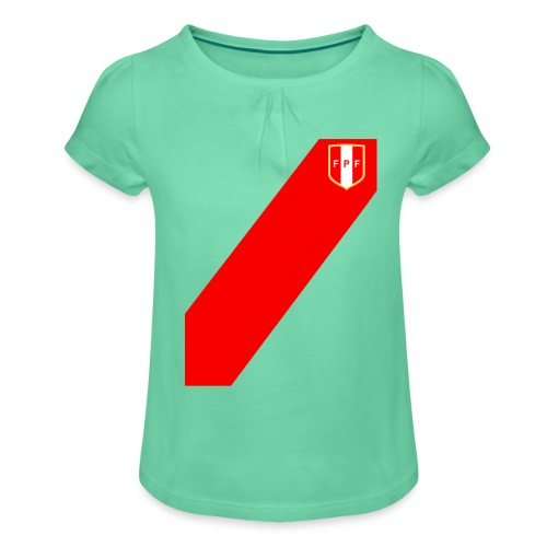 Seleccion peruana de futbol (Recto-verso) - Girl's T-Shirt with Ruffles