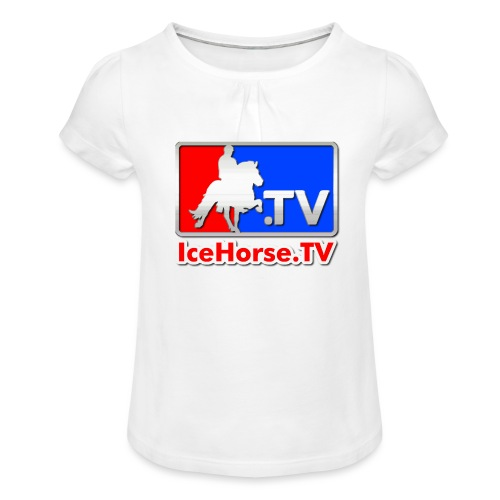 IceHorse logo - Girl's T-Shirt with Ruffles