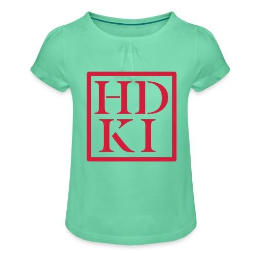 HDKI logo - Girl's T-Shirt with Ruffles