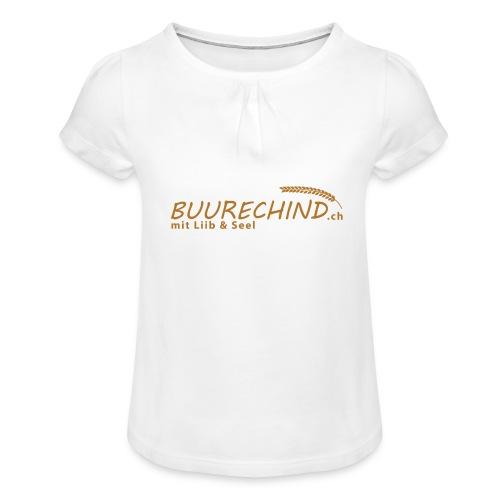 Buurechind.ch - Kollektion - Mädchen-T-Shirt mit Raffungen