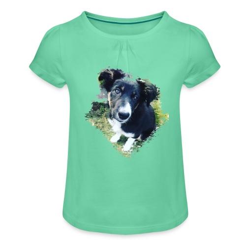 colliegermanshepherdpup - Girl's T-Shirt with Ruffles