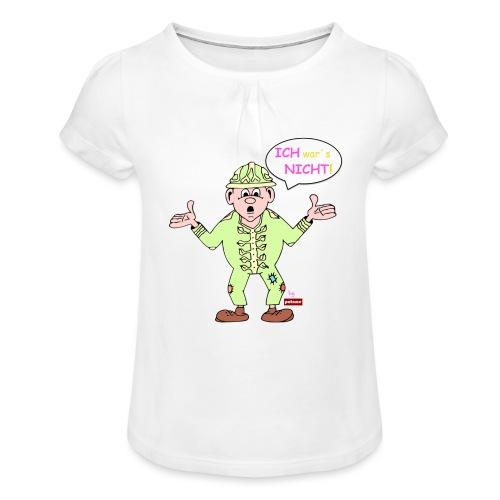 patame Zwuckel Ich wars nicht! Rosa - Mädchen-T-Shirt mit Raffungen