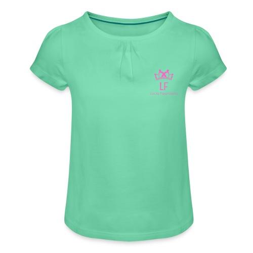 LF - Maglietta da ragazza con arricciatura