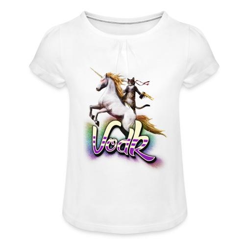 VodK licorne png - T-shirt à fronces au col Fille