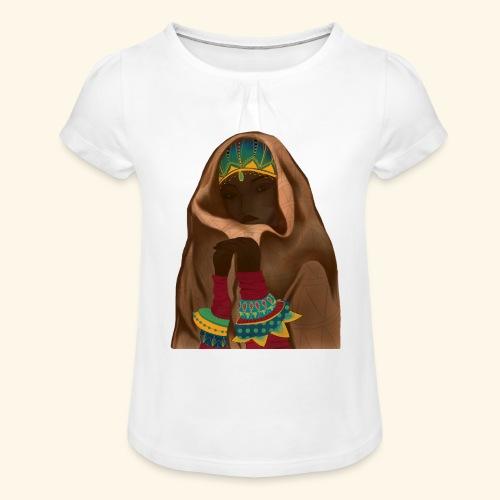 Femme bijou voile - T-shirt à fronces au col Fille