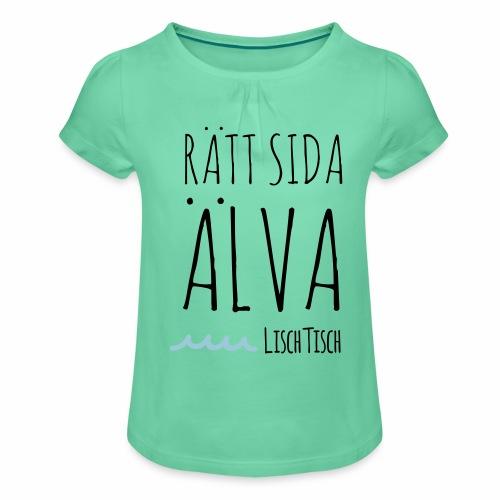 Rätt sida Älva - T-shirt med rynkning flicka