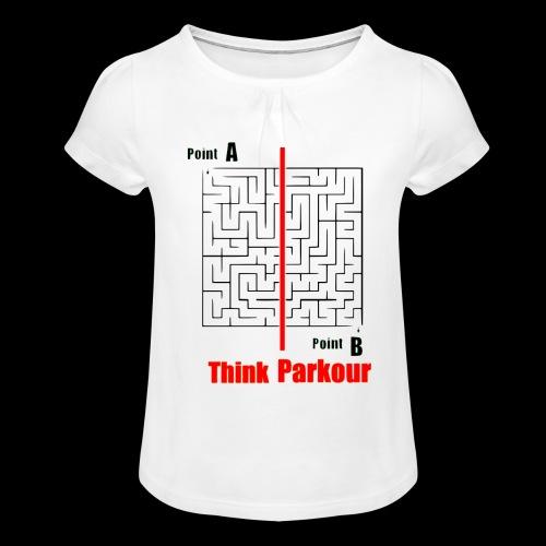 maze - Girl's T-Shirt with Ruffles
