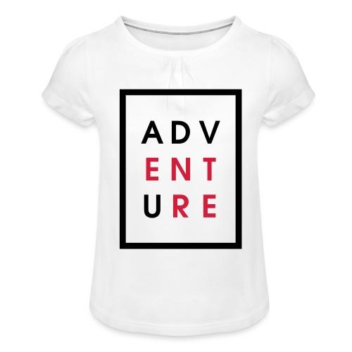 Enter Adventure - Girl's T-Shirt with Ruffles