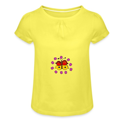 Butterfly colorful - Girl's T-Shirt with Ruffles