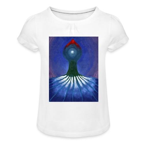 Drzewo Samotne - Koszulka dziewczęca z marszczeniami