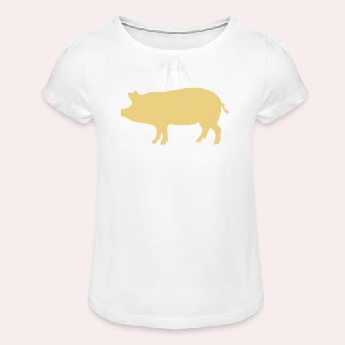 Nunca comas más de lo que puedas levantar - Camiseta para niña con drapeado