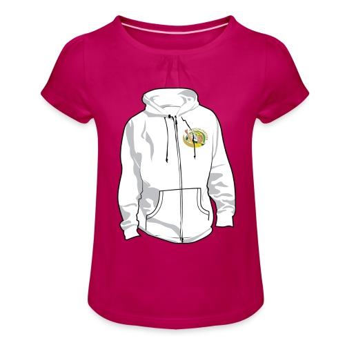 hoodyfront - Meisjes-T-shirt met plooien