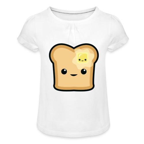 Toast logo - Mädchen-T-Shirt mit Raffungen