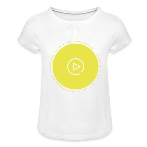 Play - Mädchen-T-Shirt mit Raffungen
