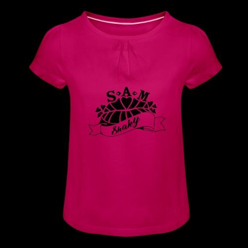 SamShaky - Tyttöjen t-paita, jossa rypytyksiä