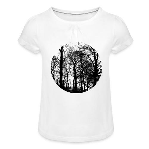 fagus sylvatica - Girl's T-Shirt with Ruffles