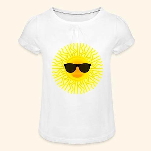 Sol de Canarias - Camiseta para niña con drapeado
