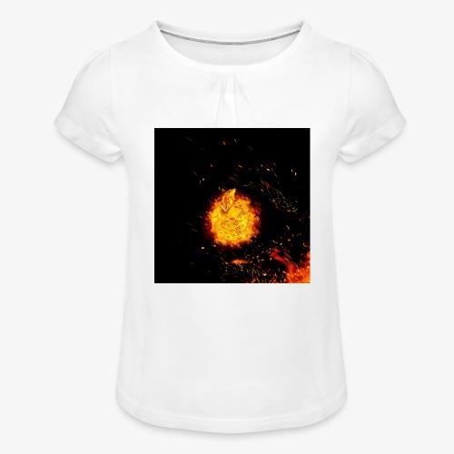 FIRE BEAST - Meisjes-T-shirt met plooien