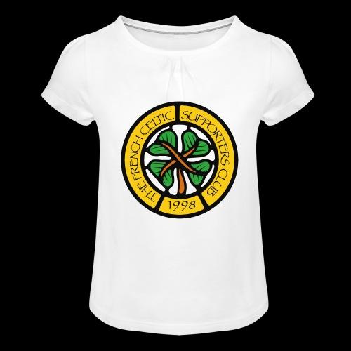 French CSC logo - T-shirt à fronces au col Fille