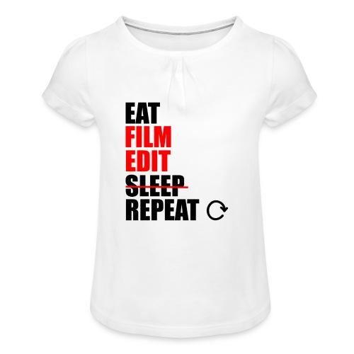 Life of a filmmaker - Mädchen-T-Shirt mit Raffungen