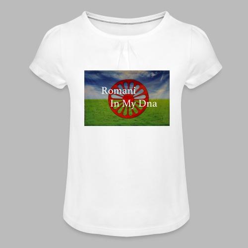 flagromaniinmydna - T-shirt med rynkning flicka