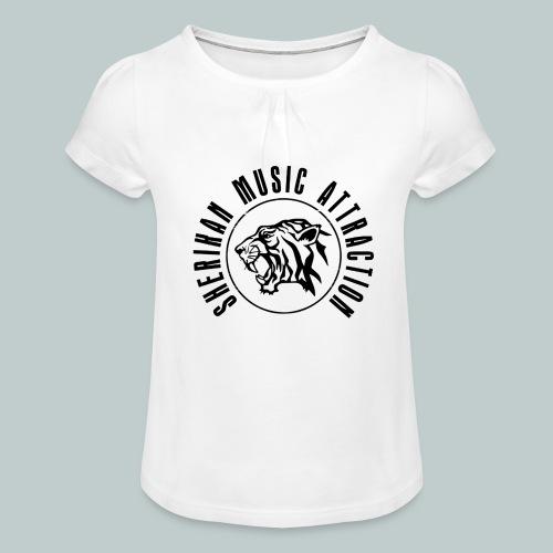 Sherikan Logo - T-shirt med rynkning flicka