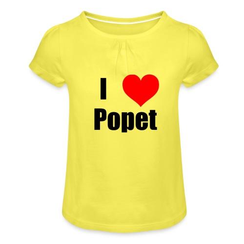 ILovePopet - Girl's T-Shirt with Ruffles