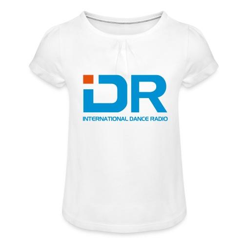 International Dance Radio - Camiseta para niña con drapeado