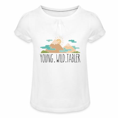 young.wild.tabler - Mädchen-T-Shirt mit Raffungen