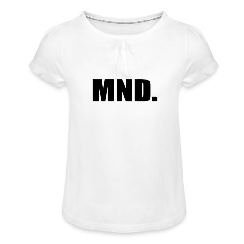 MND. - Meisjes-T-shirt met plooien