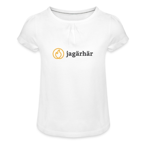#jagärhär - T-shirt med rynkning flicka